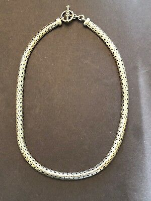"LG STUNNING Solid STERLING SILVER Suarti BYZANTINE Wheat SNAKE 18"" Necklace 99g"
