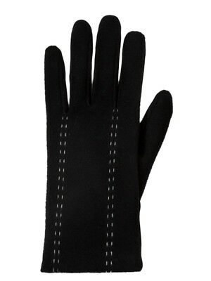 Isotoner Smart Touch Womens Black Stretch Stitch Smartouch Text & Tech Gloves