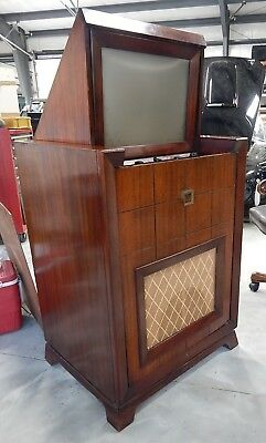 1949 Vintage Emerson 609  Projection Television Norelco Protelgram Mirrors Tubes