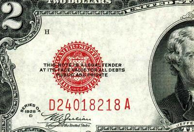 $2 1928D United States Note ** MORE CURRENCY FOR SALE