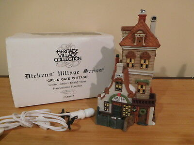 Dept 56 Dickens Village - Green Gate Cottage - Limited Edition