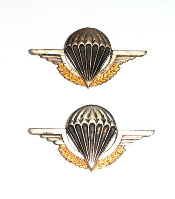 2 Different French Military BIPM Parachute Wing's or Brevet's in metal