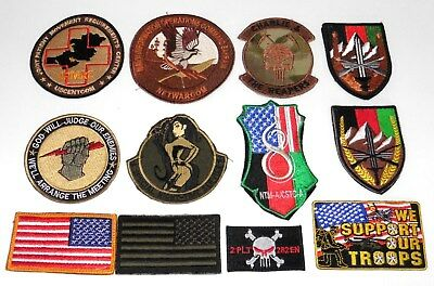 Afghanistan.US Army and USAF Unit patch collection of 12