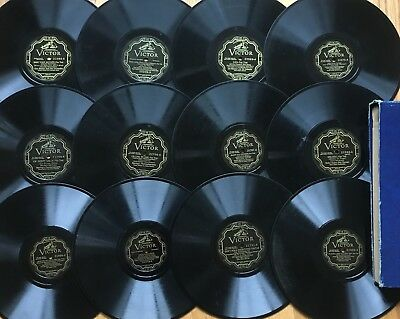 "Lot of 12 PRE-WAR VICTOR VE Electrical Scroll~Hot Jazz~Fox-Trot~10"" 78s~CLEAN~#2"