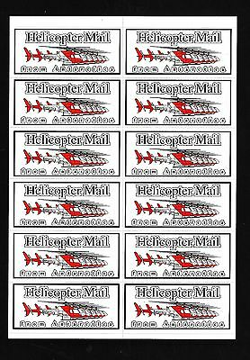 84870)  Vignette label Antarktis, Helicopter Mail from Antarctica 12er-Klbg