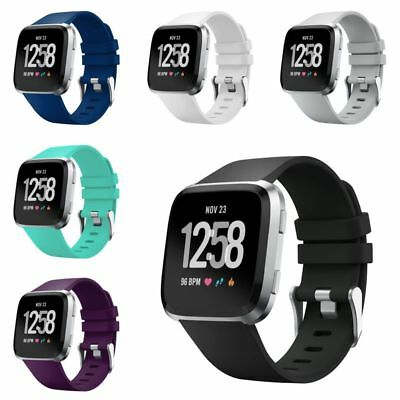 Zodaca Replacement Band For Fitbit Versa Small/Large Rubber Wristband Strap