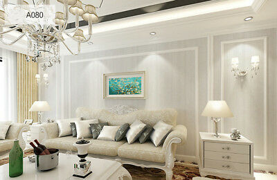3D Wallpaper Wallcoverings Textured Paintable Classic White Beadboard