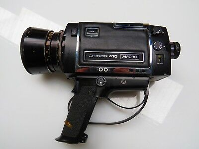 Vintage Chinon 410 Macro Super 8 Camera with Reflex Zoom Lens F:1.7 f=6.5-65mm