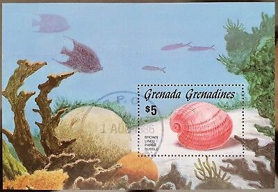 Grenada Grenadines 1986 Sc # 771 Sea Shell Mini Sheet Mint CTO Stamp