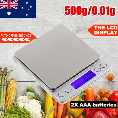 0.01-500g Kitchen Food Scale Electronic Digital LCD Balance Weight Postal Scales