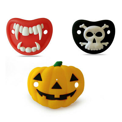 Kid Funny Infant Silicone Halloween Dummy Pacifier Clip Teething Soother Holder