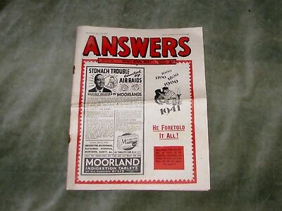ANSWERS weekly newspaper 17TH MAY 1941