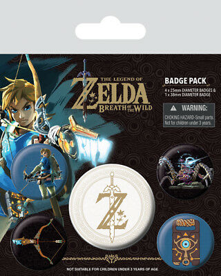 Button Badge 5er Pack THE LEGEND OF ZELDA - Z Emblem - 1x38mm & 4x25mm BP80598