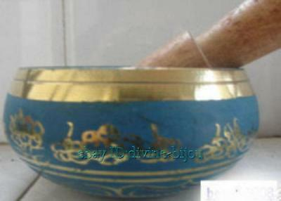 Collection Tibet copper Buddhist Lama Singing Bowl set