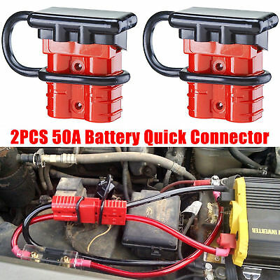 2x Car 24V 12V 50A Battery Quick Connect Disconnect Winch Trailer Plug Connector