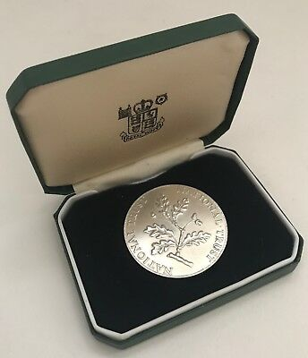 Solid Sterling Silver National Trust Royal Mint Coin in Presentation Case