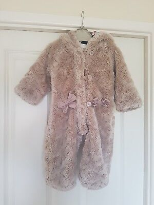 Ted BAKER BABY GIRLS SNOWSUIT AGE 9-12 MONTHS