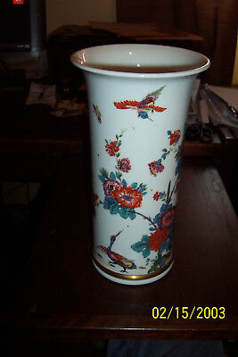 "Lenox China 1979 11"" Saxony Vase A Reproduction of a Meissen 1725 piece 1979"