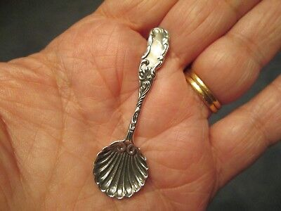 WOW VINTAGE LOOKING ~ Sterling Silver SALT SPOON