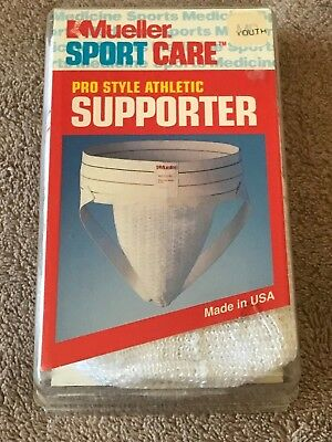 Nip Boys Mueller Pro Style Athletic Supporter White Youth Small Free Shipping