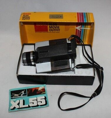 Vintage Kodak XL55 Movie Camera Indoor Super 8 Without Special Lights in Box