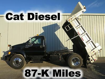 F750 Cat Diesel Automatic Stainless Dump Bed Body Salt Spreader Plow Truck