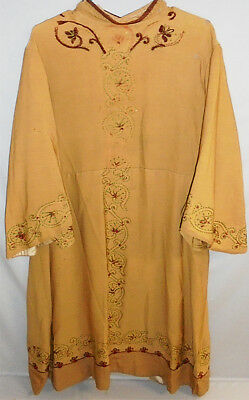1800's -Masonic Scottish Rite- Victorian Embroidered Wool Vintage Costume Robe