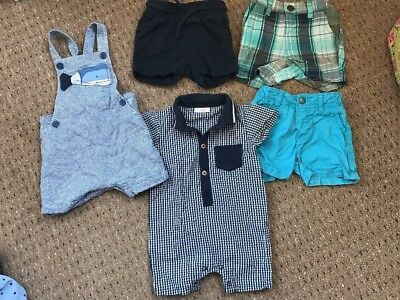 Baby Boys Next 6-9 Months Summer Romper Shorts Dungarees Bundle