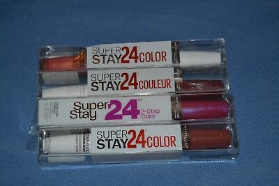 Lot of 4 Maybelline Super Stay 2 Step Lipcolor 4 Different Colors