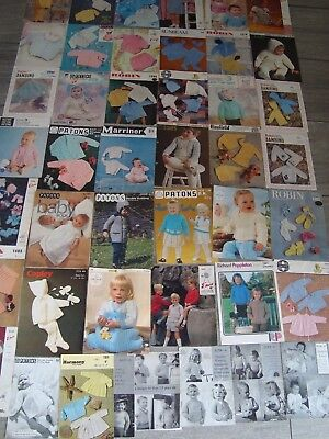 Huge Joblot/Bundle of Vintage Babies Knitting Patterns