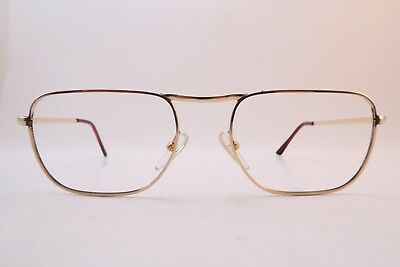 Vintage gold filled eyeglasses frames AMOR Size 55-20 140 made in France