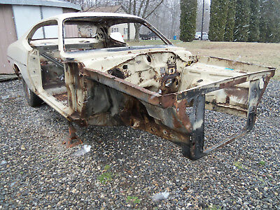 1975 Plymouth Duster  1975 DUSTER CHASSIS BODY SHELL, BACK is ROLLING on 7 1/4 REAR