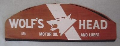 Vintage Wolf's Head Motor Oil And Lube Mechanic Garage Service Station Hat