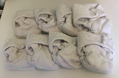 Bundle Of 9 Cloth Reuseable Nappies Size 1 Little Lamb Bamboo