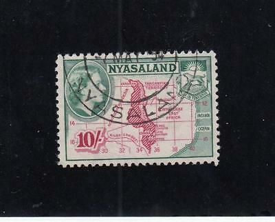NYASALAND # 110 VF-SON CANCEL QE11 10sh