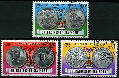 Grenadines St. Vincent 1977 SG#93-5 QEII Silver Jubilee Used Set #D76514