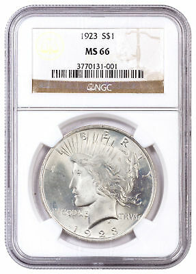 1923 Silver Peace Dollar NGC MS66 SKU54399