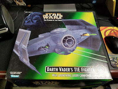 Kenner Star Wars Power of the Force Darth Vader's Tie Fighter, New!