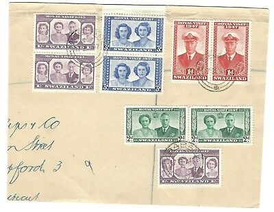 Swaziland 1947 Royal Visit Used On Piece