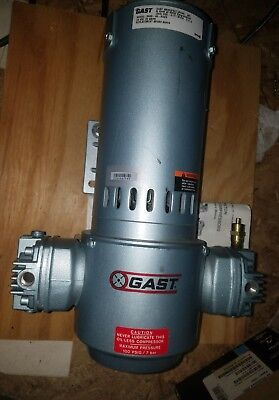 GAST 3HBB-48-M323 Piston Air Compressor 24VDCV New, with Manual