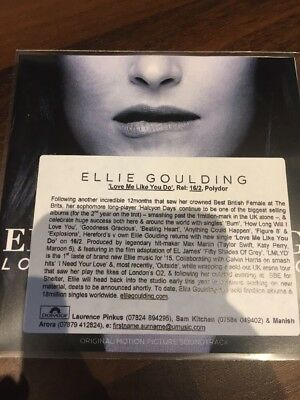 Ellie Goulding 'love Me Like You Do' New 2 Track Cd Promo