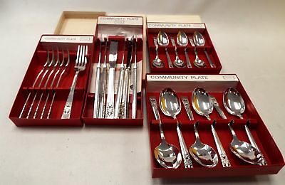 4 X Boxes Of Oneida COMMUNITY PLATE CUTLERY Knives, Forks & Spoons - S50