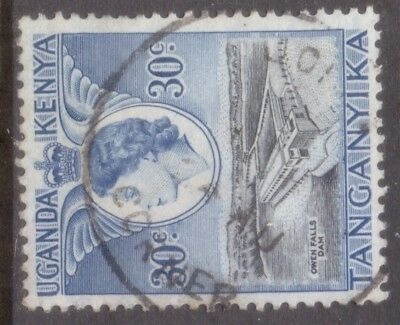 "KUT TANGANYIKA  skeleton  POSTMARK / CANCEL   ""JOHN'S  CORNER""   on QE2"