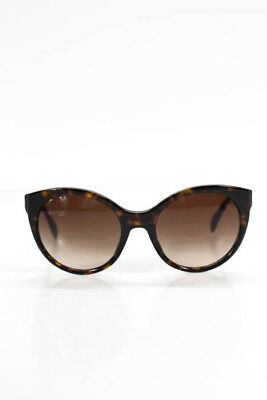 5f02de021 PRADA BROWN TORTOISE Shell Print Round Frame Cat Eye Sunglasses ...