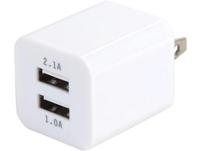 Link Depot LD-AC22A-W White 2 Port / 2.1 Amp USB Wall Charger