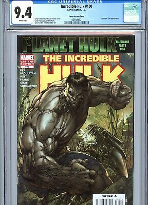 Incredible Hulk #100 CGC 9.4 Michael Turner Variant Cover Marvel Comics 2007