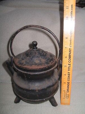 Cast Iron 3 Leg Bean Pot Antique Vintage Old