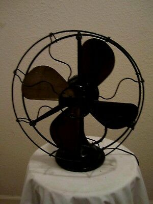 Antique Century Brass Blades  Electric Fan Model 101