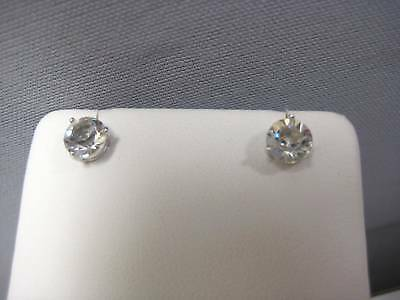 Solitaire Stud Earrings Clear Crystal Swarovski Jewelry 1800046