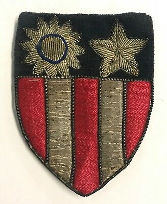 Original WWII US Army China Burma India Theater Made Patch with Silver Bullion